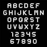 Estilo de la papiroflexia del alfabeto y de los números Imagenes de archivo