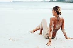 Estilo de la playa de Boho Fotos de archivo libres de regalías