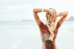 Estilo de la playa de Boho Foto de archivo libre de regalías