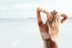 Estilo de la playa de Boho Imágenes de archivo libres de regalías