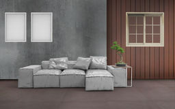 Estilo de la sala de estar y marco mínimos dos Imagen de archivo libre de regalías
