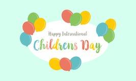 Estilo de la tarjeta para el día de los niños