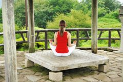 Estilo de la yoga Fotos de archivo libres de regalías