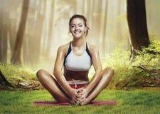 Estilo de la yoga Fotos de archivo