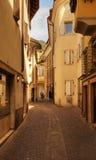 Estilo de las calles en Bolzano Fotos de archivo