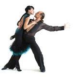 Estilo de Latina de los bailarines de los pares Imagen de archivo