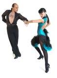 Estilo de Latina de los bailarines de los pares Imagenes de archivo