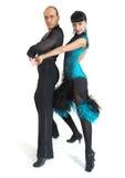 Estilo de Latina de los bailarines de los pares Foto de archivo