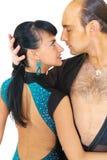 Estilo de Latina de los bailarines de los pares Fotos de archivo libres de regalías