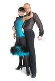 Estilo de Latina de los bailarines de los pares Fotos de archivo