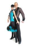 Estilo de Latina de los bailarines de los pares Fotografía de archivo libre de regalías