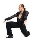Estilo de Latina del bailarín del salón de baile Imágenes de archivo libres de regalías