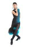 Estilo de Latina del bailarín del salón de baile Foto de archivo