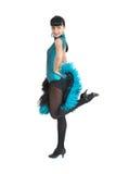 Estilo de Latina del bailarín del salón de baile Imagen de archivo libre de regalías