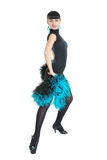 Estilo de Latina del bailarín del salón de baile Foto de archivo libre de regalías