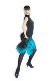 Estilo de latina do dançarino do salão de baile Foto de Stock Royalty Free