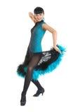 Estilo de latina do dançarino do salão de baile Fotografia de Stock Royalty Free