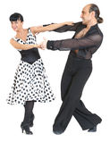 Estilo de latina dos dançarinos dos pares foto de stock royalty free