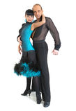 Estilo de latina dos dançarinos dos pares Fotos de Stock