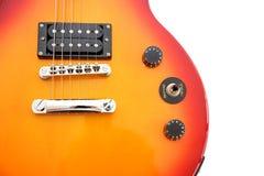 Estilo de Les Paul de la guitarra eléctrica imagen de archivo