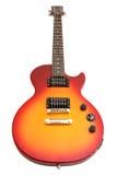 Estilo de Les Paul de la guitarra eléctrica fotos de archivo