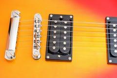 Estilo de Les Paul de la guitarra eléctrica foto de archivo libre de regalías