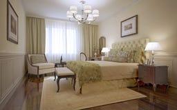 Estilo de lujo del inglés del dormitorio Foto de archivo libre de regalías