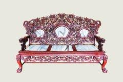 Estilo de madeira do vintage da cadeira fotografia de stock royalty free