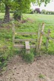 Estilo de madeira em um campo Imagem de Stock