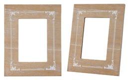 Estilo de madera del vintage del marco aislado fotos de archivo libres de regalías