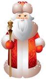 Estilo de Matryoshka del ruso de Ded Moroz Imagen de archivo libre de regalías