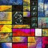 Estilo de Mondrian Imagen de archivo