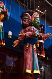 Estilo de Nepal de la marioneta en Thamel Katmandu Nepal Foto de archivo libre de regalías