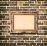 Estilo de oro del Barroco del marco imagen de archivo