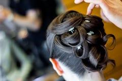 Estilo de pelo de la boda Imagenes de archivo