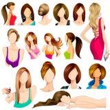Estilo de pelo femenino Fotografía de archivo libre de regalías