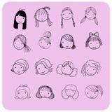 Estilo de pelo para la cara de la historieta Imagen de archivo libre de regalías