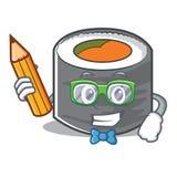 Estilo de personagem de banda desenhada do sushi do estudante Imagens de Stock