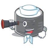 Estilo de personagem de banda desenhada do sushi do marinheiro Fotografia de Stock