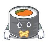 Estilo de personagem de banda desenhada silencioso do sushi Imagem de Stock