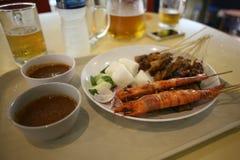Estilo de Singapur del Dinnertime Imágenes de archivo libres de regalías