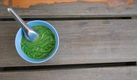Estilo de Tailândia da sobremesa Nomeie Lod Chong fotos de stock
