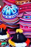 Estilo de Tailândia dos chapéus e dos tampões para o fundo Fotografia de Stock