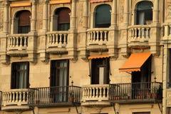 Estilo de Venecian de los balcones Foto de archivo libre de regalías