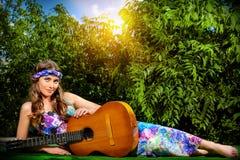 Estilo de vida da hippie fotografia de stock royalty free