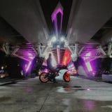 Estilo de vida da motocicleta de Citylights fotografia de stock royalty free