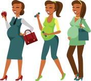 Estilo de vida da mulher gravida Fotografia de Stock Royalty Free