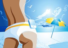 Estilo de vida da praia ilustração stock