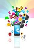 Estilo de vida do telefone móvel ilustração royalty free