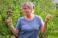 Estilo de vida e conceito saudáveis da dieta da mulher Imagens de Stock Royalty Free